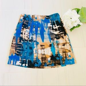 The Limited A Line Blue/Teal Skirt Size 4